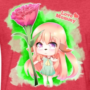 Happy Mother's Day Furry Girl - Fitted Cotton/Poly T-Shirt by Next Level
