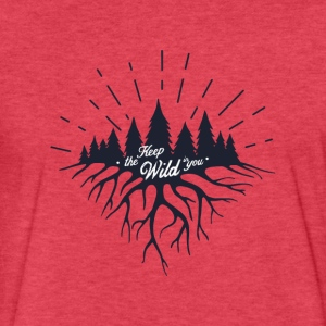 Keep the Wild in You T-shirts and Products - Fitted Cotton/Poly T-Shirt by Next Level