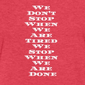 Keep Pushing, Keep Moving!! - Fitted Cotton/Poly T-Shirt by Next Level