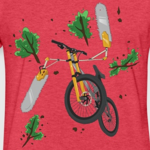 ChainSaw Bike - Fitted Cotton/Poly T-Shirt by Next Level
