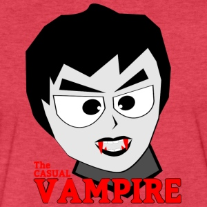the casual vampire - Fitted Cotton/Poly T-Shirt by Next Level