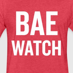 Bae Watch White - Fitted Cotton/Poly T-Shirt by Next Level