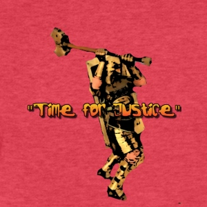 JUSTICE TIME - Fitted Cotton/Poly T-Shirt by Next Level