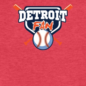 detroit fan shirt - Fitted Cotton/Poly T-Shirt by Next Level