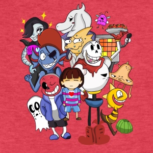 Undertale Family - Fitted Cotton/Poly T-Shirt by Next Level