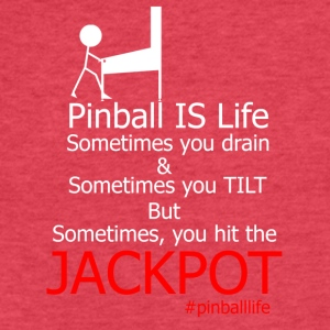 Pinball IS Life - Fitted Cotton/Poly T-Shirt by Next Level