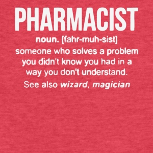 Pharmacist Definition Pharmacist Gifts T Shirt - Fitted Cotton/Poly T-Shirt by Next Level
