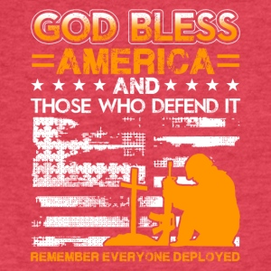 Red Fridays God Bless America Tee Shirt - Fitted Cotton/Poly T-Shirt by Next Level