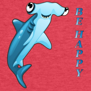 FISH-BE-HAPPY - Fitted Cotton/Poly T-Shirt by Next Level