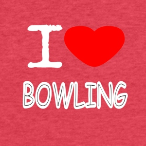 I LOVE BOWLING - Fitted Cotton/Poly T-Shirt by Next Level