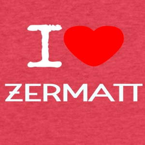 I LOVE ZERMATT - Fitted Cotton/Poly T-Shirt by Next Level