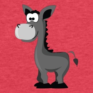 Cartoon Donkey - Fitted Cotton/Poly T-Shirt by Next Level