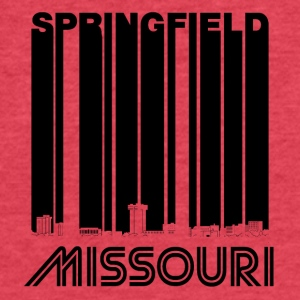 Retro Springfield Missouri Skyline - Fitted Cotton/Poly T-Shirt by Next Level