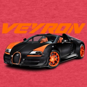 Bugatti Veyron - Fitted Cotton/Poly T-Shirt by Next Level