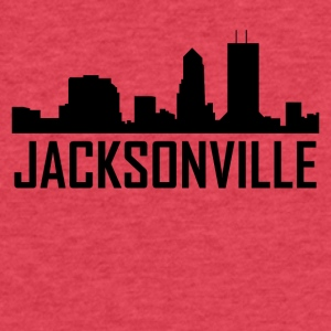 Jacksonville Florida City Skyline - Fitted Cotton/Poly T-Shirt by Next Level
