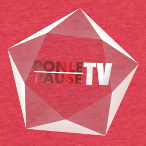 PonlePauseTv - Fitted Cotton/Poly T-Shirt by Next Level