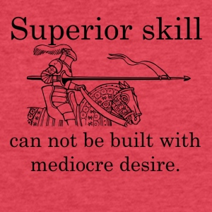 Superior Skill Knight - Fitted Cotton/Poly T-Shirt by Next Level