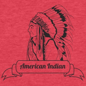 american_indian_black - Fitted Cotton/Poly T-Shirt by Next Level