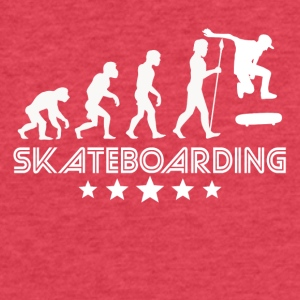 Retro Skateboarding Evolution - Fitted Cotton/Poly T-Shirt by Next Level