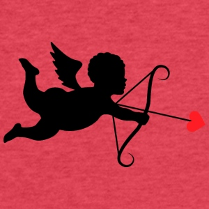 cupid-love-amour-ange-Valentines day - Fitted Cotton/Poly T-Shirt by Next Level
