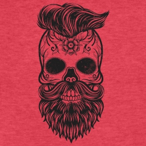 hipster skull - Fitted Cotton/Poly T-Shirt by Next Level