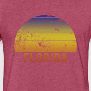 Florida Retro Vintage 70s Throwback - Fitted Cotton/Poly T-Shirt by Next Level