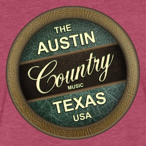The Austin Country Music Texas - Fitted Cotton/Poly T-Shirt by Next Level