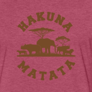 Hakuna Matata - Fitted Cotton/Poly T-Shirt by Next Level