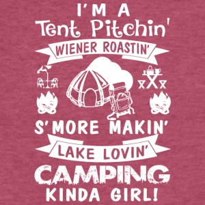 Camping Kinda Girl Camping Gifts T Shirt - Fitted Cotton/Poly T-Shirt by Next Level