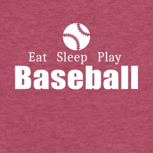 Eat Sleep Play Baseball- cool shirt,geek hoodie,ta - Fitted Cotton/Poly T-Shirt by Next Level