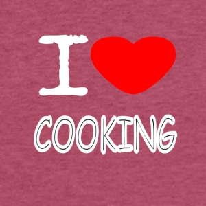 I LOVE COOKING - Fitted Cotton/Poly T-Shirt by Next Level
