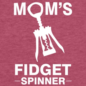Funny Wine Mom Fidget Spinner Screwpull Lever - Fitted Cotton/Poly T-Shirt by Next Level