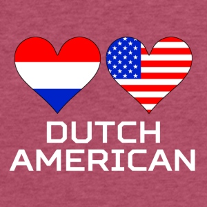Dutch American Hearts - Fitted Cotton/Poly T-Shirt by Next Level