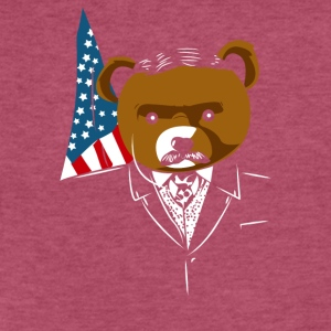 Teddy Bear Roosevelt - Fitted Cotton/Poly T-Shirt by Next Level