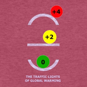 TRAFFIC LIGHTS OF GLOBAL WARMING - Fitted Cotton/Poly T-Shirt by Next Level
