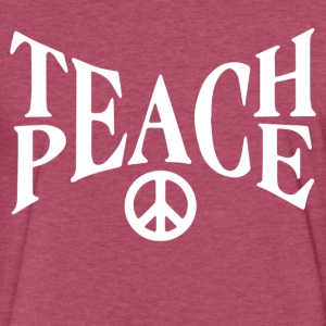 Teach Peace - Fitted Cotton/Poly T-Shirt by Next Level