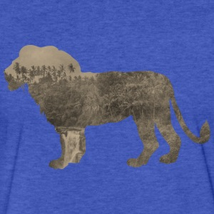 Silhouette Jungle Series Lion - Fitted Cotton/Poly T-Shirt by Next Level