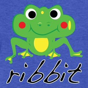 Funny ribbit frog product. - Fitted Cotton/Poly T-Shirt by Next Level