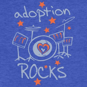 Adoption Rocks - Kids - Fitted Cotton/Poly T-Shirt by Next Level