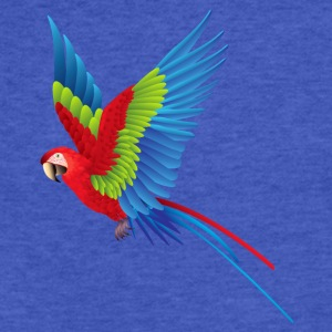 Parrot in Flight - Fitted Cotton/Poly T-Shirt by Next Level