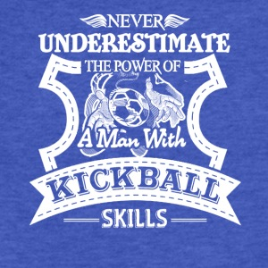 Man With Kickball Skills Shirt - Fitted Cotton/Poly T-Shirt by Next Level