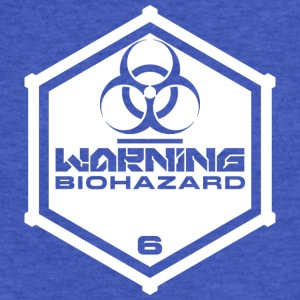Warning: Biohazard - Fitted Cotton/Poly T-Shirt by Next Level