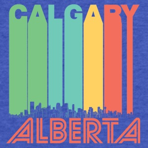 Retro Calgary Alberta Canada Skyline - Fitted Cotton/Poly T-Shirt by Next Level