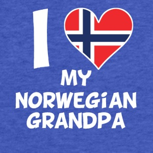 I Heart My Norwegian Grandpa - Fitted Cotton/Poly T-Shirt by Next Level