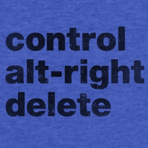 Control Alt-Right Delete Black - Fitted Cotton/Poly T-Shirt by Next Level
