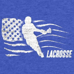 Lacrosse American Flag - Fitted Cotton/Poly T-Shirt by Next Level