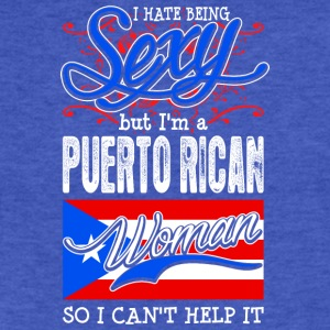 I Hate Being Sexy But Im A Puerto Rican Woman - Fitted Cotton/Poly T-Shirt by Next Level