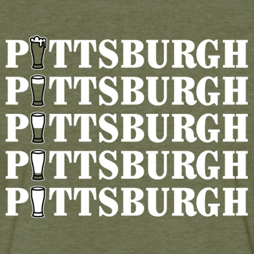 Green Beer in Pittsburgh - Fitted Cotton/Poly T-Shirt by Next Level