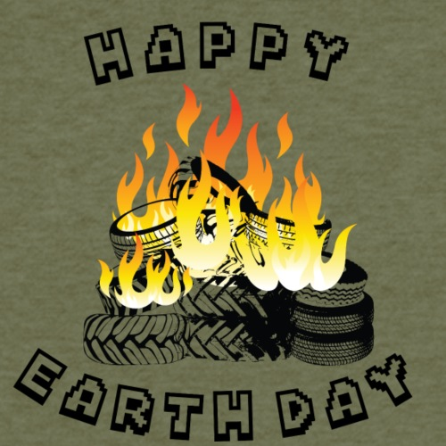 Happy Earth Day - Fitted Cotton/Poly T-Shirt by Next Level