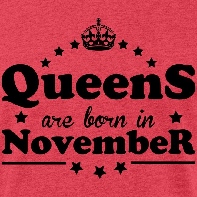 Queens are born in November